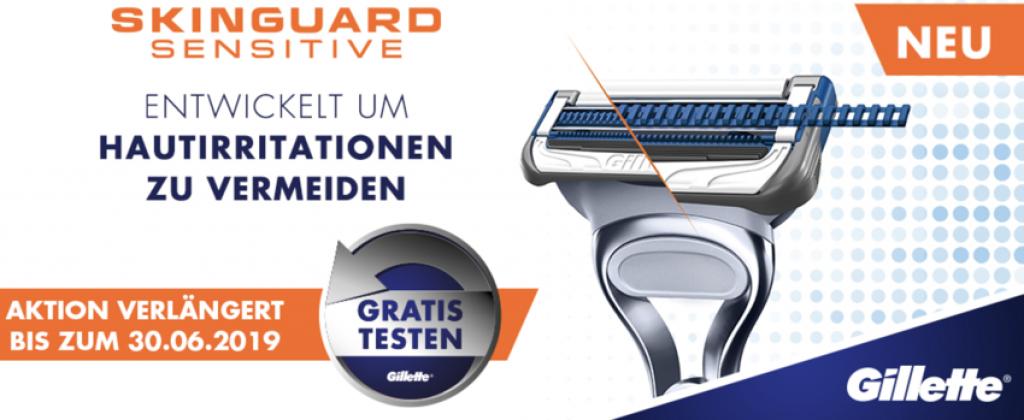 gillette aktion, Gillette Skinguard Sensitive Rasierer, gillette cashback