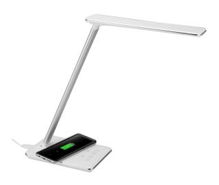 Pricedrop! Dimmbare AGM LED Schreibtischlampe mit Touchbedienung und Qi Charger für 27,99 Euro