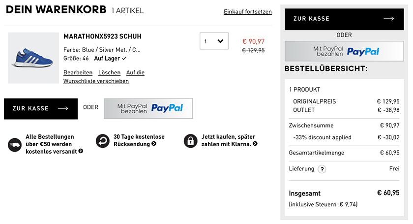 the latest 5ac97 562b2 Letzter Tag: 33% Rabatt bei Adidas auf über 5.600 ...