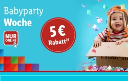 Babyparty Woche bei Lidl mit 5,- Euro Gutscheincode ab 10,- Euro Bestellwert