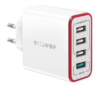 BlitzWolf PL5 QC3.0 Ladegerät mit 3 USB Ports + QuickCharge Port für nur 12,07 Euro bei Banggood