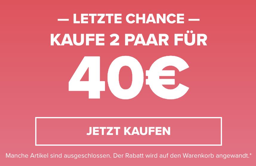 Crocs Onlineshop: 2 Paar Crocs kaufen und nur 40,- Euro bezahlen