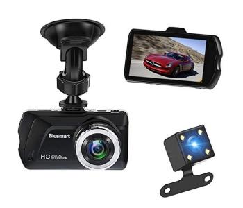 Blusmart Full HD DashCam mit 3.0″ Display, Rückfahrkamera und 16GB SD Karte für 18,- Euro