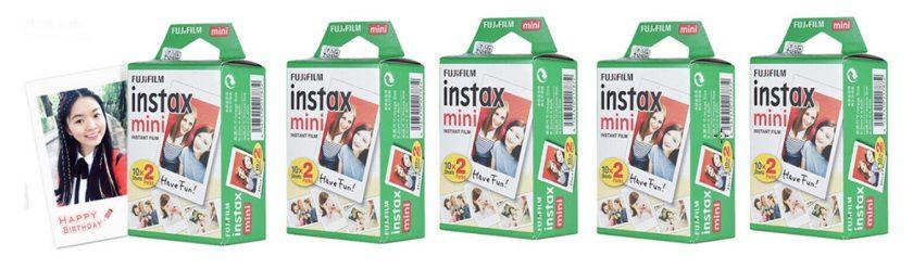 100er-Pack Fuji Instax Mini Filme (7s/8/9/25/50) für nur 57,99 Euro inkl. Versand