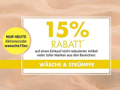 Nur heute: 20% Rabatt auf Wäsche & Strümpfe bei Galeria Kaufhof