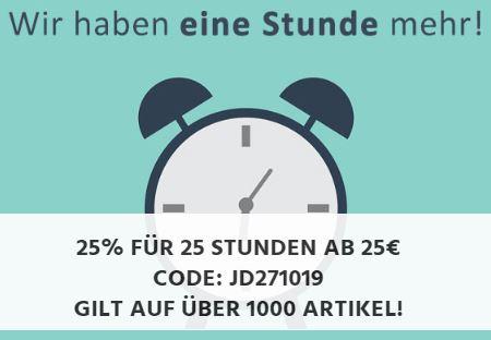 25% Gutscheincode auf (fast) Alles bei Jeans-Direct (25,- Euro Mindestbestellwert)