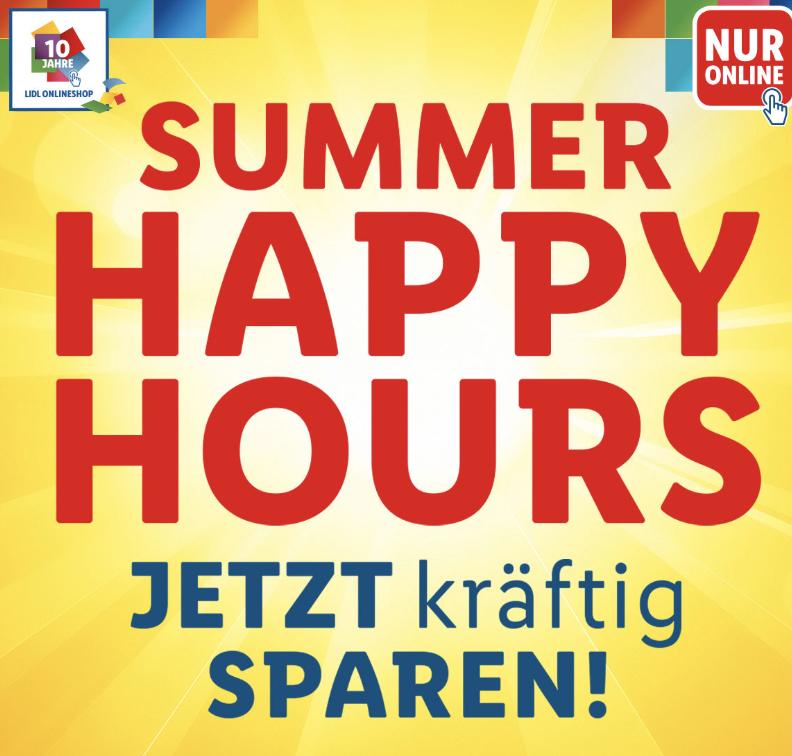 Happy Hour bei Lidl: Bis 24:00 Uhr versandkostenfreie Lieferung ab 50,- Euro Bestellwert