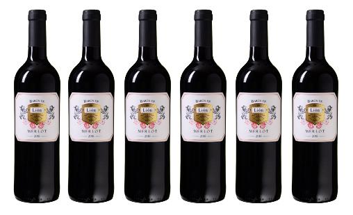 6 Flasche Barón de Lión Merlot Vino Varietal für nur 29,94 Euro inkl. Versand