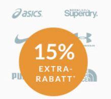 Engelhorn Sport-Markenwoche mit 15% Rabatt auf Marken wie Mammut, Adidas oder The North Face