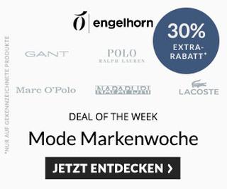 Engelhorn Mode Weekly Deal mit 30% Rabatt auf die Marken Polo Ralph Lauren, MOP, Gant, Napapijri und Lacoste