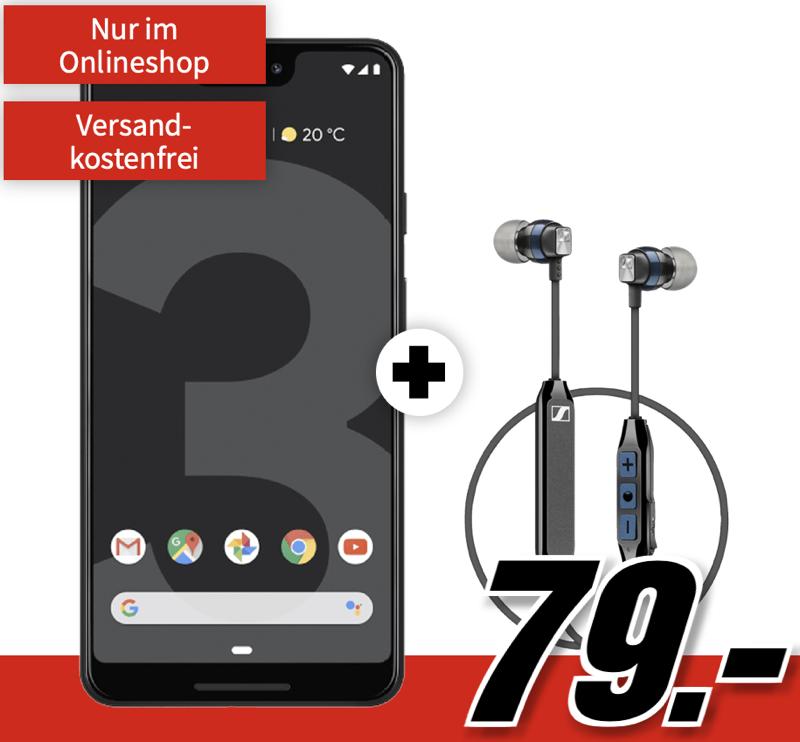 MD Vodafone green LTE (Vodafone) mit 8GB Daten nur 21,99 Euro monatlich + GOOGLE Pixel 3 XL mit Sennheiser CX6 für einmalig 79,- Euro