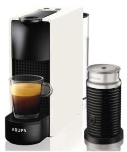 Krups XN 1111 Nespresso Essenza Mini Kaffeekapselmaschine Bundle mit Aeroccino Weiß für 89,90 Euro