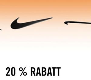 20% Rabatt ab 3 regulären (nicht reduzierten) Artikeln im Nike Store
