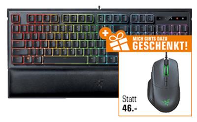 RAZER Ornata Chroma Gaming Tastatur + RAZER Basilisk Gaming Maus