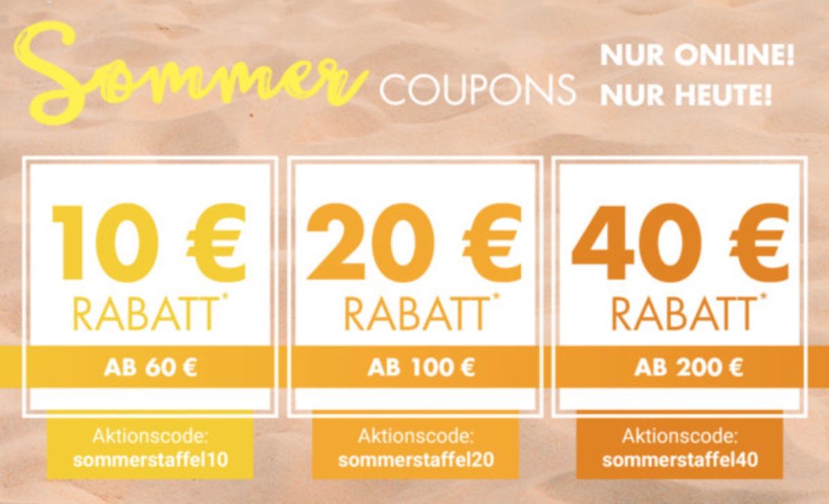 Bis zu 40,- Euro Rabatt auf fast alle nicht reduzierten Artikel bei Galeria Kaufhof