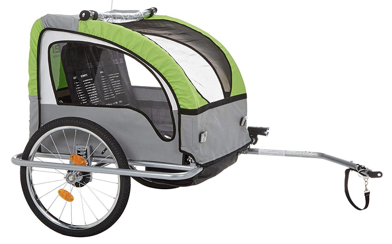 FISCHER 86388 Kinder-Fahrradanhänger Komfort für nur 129,- Euro inkl. Versand