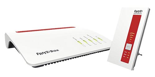 FRITZ!Box 7590 Router + FRITZ!WLAN Repeater 1750 für nur 208,71 Euro (statt 245,- Euro)