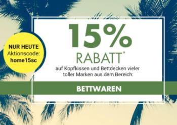 15% Rabatt auf Kopfkissen & Bettdecken bei Galeria-Kaufhof