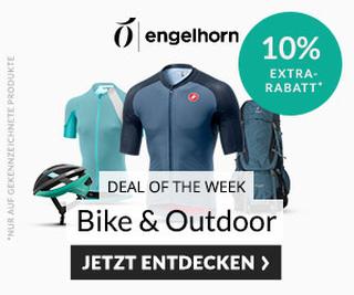 10% Rabatt auf die Kategorien Bike & Outdoor im Engelhorn Onlineshop