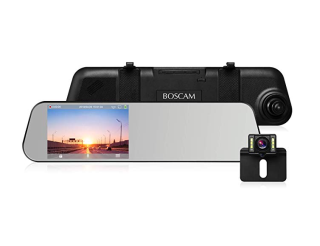 BOSCAM R1 1080P Dashcam Rückspiegel mit Rückfahrkamera für 62,99 Euro