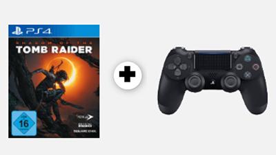 SONY PlayStation 4 Wireless Dualshock 4 Controller + Shadow of the Tomb Raider für nur 52,- Euro