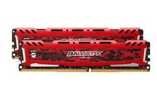 Ballistix Sport LT Rot 16GB Kit (2x8GB) DDR4-2666 CL16 DIMM Arbeitsspeicher für 50,99 Euro