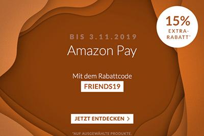 Engelhorn: 15% Rabatt auf viele ausgewählte Artikel bei Zahlung mit Amazon Pay