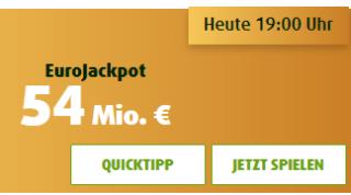 54 Mio. JAckpot – 3 Felder EuroJackpot nur 0,99 Euro für Neukunden bei Lottoland.com