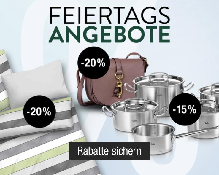 Galeria Kaufhof Feiertagsangebote – z.B. 20% Rabatt auf diverse Heimtextilien