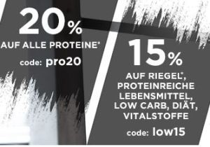 Fitmart: 20% Rabatt auf alle Proteine & 15% Rabatt auf Riegel, proteinreiche Lebensmittel und mehr