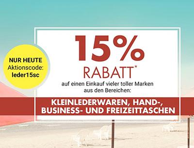 15% Rabatt auf Kleinlederwaren, Hand-, Business- und Freizeittaschen bei Galeria Kaufhof