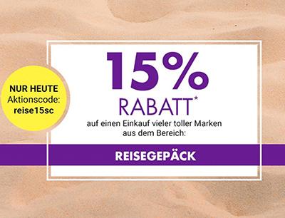 15% Rabatt auf Reisegepäck im Galeria Kaufhof Onlineshop
