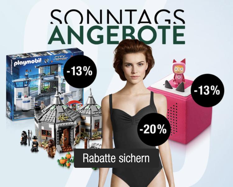 Galeria Sonntagsangebote mit vielen guten Rabattaktionen – z.B. 13% Rabatt auf Spielwaren