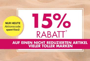 15% Rabatt auf viele tolle Marken bei Galeria Kaufhof