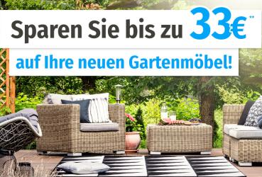 Gartenmöbel bis zu 30,- Euro billiger bei Garten XXL