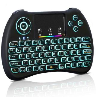 Haofy Mini 2,4 GHz Wireless Tastatur mit Touchpad und QWERTZ-Layout für 10,99 Euro