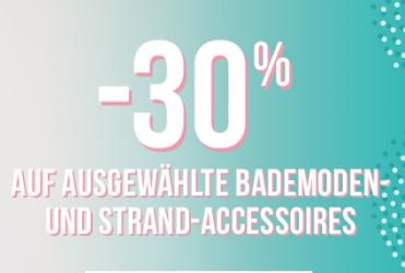 30% auf ausgewählte Bademode und Strandaccesoires bei Hunkemöller