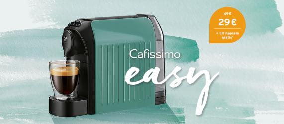 Cafissimo Easy +30 Kapseln für nur 29,- Euro inkl. Versand