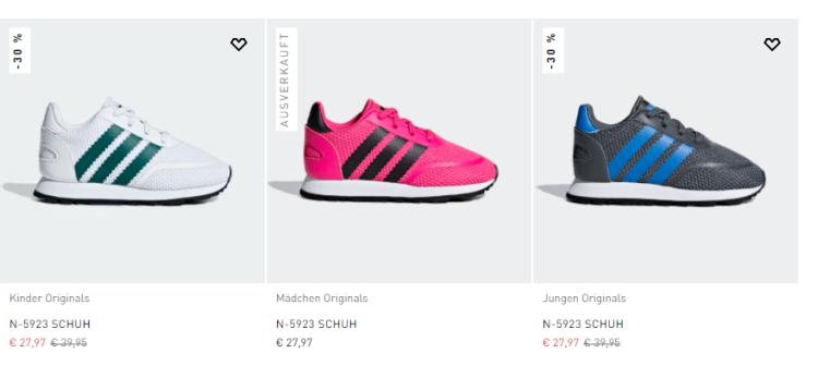 Adidas Forest Grove oder N 5923 für Kinder ab 22,38 Euro