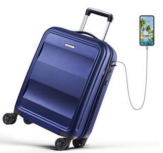 REYLEO 54-cm-Trolley mit 4-Rollen und externem USB-Port für 60,79 Euro