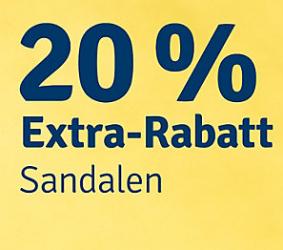 Noch bis 19.06.: 20% Extra Rabatt auf Sandalen bei MyToys