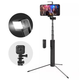 Blitzwolf BW-BS8 Ausziehbarer Bluetooth-Stativ Selfie-Stick mit LED Licht für 11,75 Euro inkl. Versand
