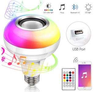 Haofy E27 RGB LED-Leuchtmittel mit integriertem Bluetooth Speaker für nur 8,99 Euro