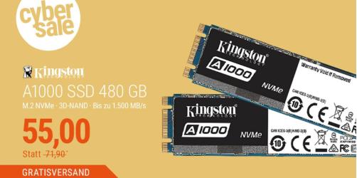 Kingston A1000 SSD (480 GB) für nur 55,- Euro inkl. Versand