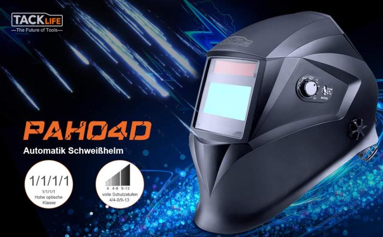 Schweißhelm Tacklife PAH04D Automatik Schweißhelm mit 4 Sensoren