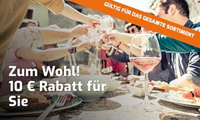10,- Euro Extra-Rabatt auf alle (auch bereits reduzierte) Weine bei Weinvorteil (MBW: 50,- Euro)