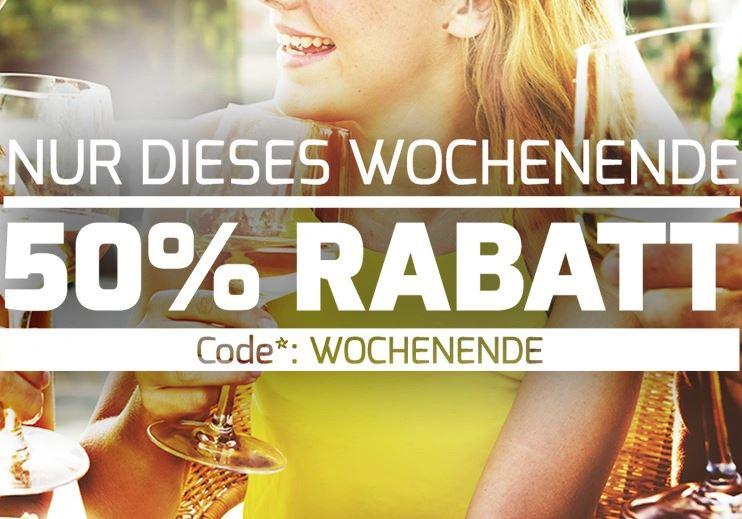 Wochenend-Knaller: 50% bei Weinvorteil.de