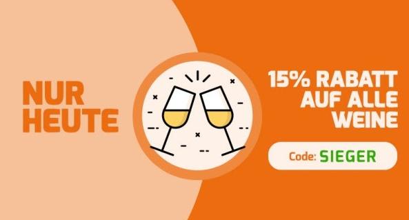 Wieder da: 15% Gutschein auf alle bereits reduzierten Weine bei Weinvorteil