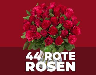 Strauß mit 44 roten Rosen für nur 24,98 Euro inkl. Lieferung