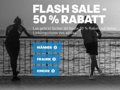 Top! Adidas Flashsale mit 50% Rabatt auf alle Artikel im Outlet